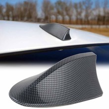 1pc High Performance Shark Fin Antenna Carbon Fiber Car Shark Fin Roof Antenna Radio FM/AM Decorate Aerial for BMW