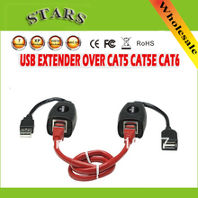 USB CAT5/CAT5E/6  male to famale RJ45 cable Ethernet Extender Lan Extension Cable Repeater Adapter USB
