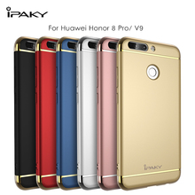 iPaky for Huawei Honor 8 Pro/ V9 Case Cover Metal Plating Frame Hard PC 3 in 1 Hybrid Cover Honor8 Pro Case Protective Shield