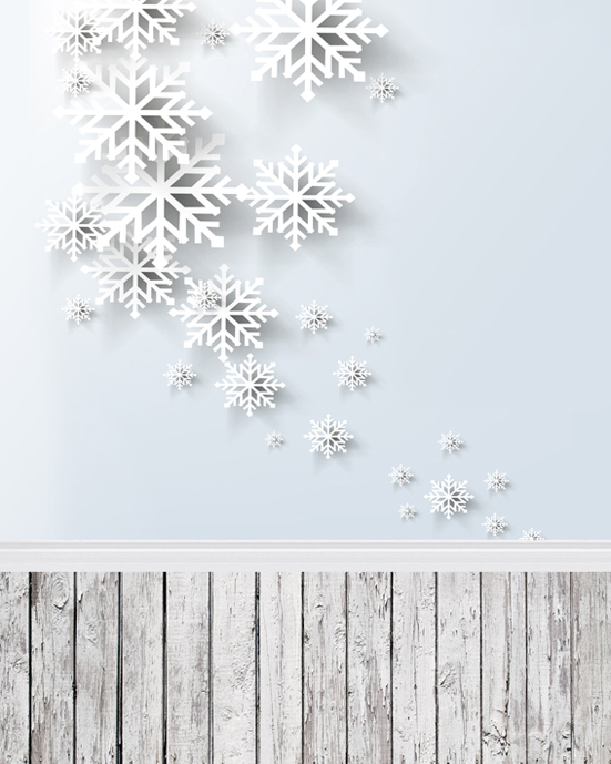 10ft customize snow Christmas photography backdrops vinyl digital cloth for kids photo studio backgrounds L-805<br>