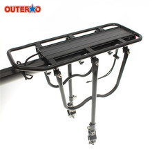 OUTERDO Aluminum Alloy Cycling Racks Bicycle Luggage Carrier MTB Bicycle Mountain Bike Road Bike Rear Rack Install Component