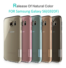 TPU Transparent soft case for Samsung Galaxy S6 NILLKIN Nature Series Luxury brand with retailed package