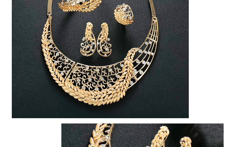 CWEEL Jewelry Sets For Women Wedding Dubai African Beads Jewelry Set Necklace Earrings Nigerian Bead Cheap Jewellery (4)