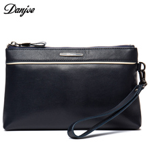 DANJUE Male Clutch Bag Genuine Leather Transverse Men Phone Bag Western Style Small Daily Bag Business Hand Bag Man Wallet