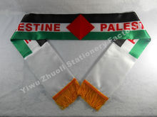 Factory Supply Stock Scarf Printing Satin Palestinian Flag Scarf 120X12CM Scarves Free Shipping Palestine(China)