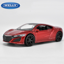1:36 Scale Welly 2016 Honda Acura NSX Diecast Model Toy with Pull Back Educational Collection For Baby Birthday Gifts(China)