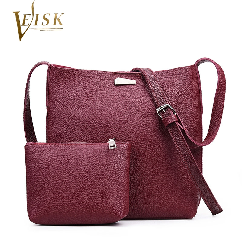New Designer Purses Women Shoulder Bags High Quality PU Leather Composite Bag Vintage Crossbody Bags for Women Shape of Bucket<br><br>Aliexpress