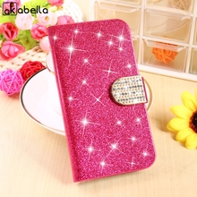 Glitter Diamond PU Leather Cell Phone Housing For Microsoft Nokia Lumia 435 Cases N435 Covers Magnetic Holster Stand Flip Shell