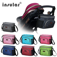 Thermal Insulation Diaper Stroller Bag Waterproof Baby Mommy Bag Colorful Stroller Nappy Changing Bag(China)