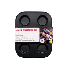 6 mini muffin cup small cake pan cake bread muffin mold FDA imported non stick coating