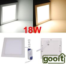 Ultrathin 18W LED 1620LM Panel Light Square 90pcs SMD2835 LED Ceiling Wall Light Lamp Recessed Down led bulb 85-265V(China)