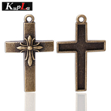 Buy Kupla Vintage Metal Brass Cross Charms Retro Religious Crosses Charms Diy Jewelry Handmade Making Pendant Charms 10pcs 30*49mm for $4.61 in AliExpress store