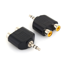 2 Pcs/Lot 1/8 Female Stereo 3.5mm Jack To 2 RCA Male or Male 3.5mm Jack To 2 RCA Female Y Splitter Audio Plug Adapter Converter