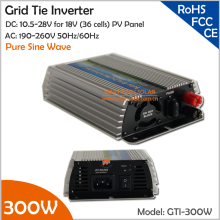300W Grid Tie Inverter, 10.5-28V DC to AC 190-260V Pure Sine Wave Inverter suitable for 300-360W 18V PV Module or Wind Turbine