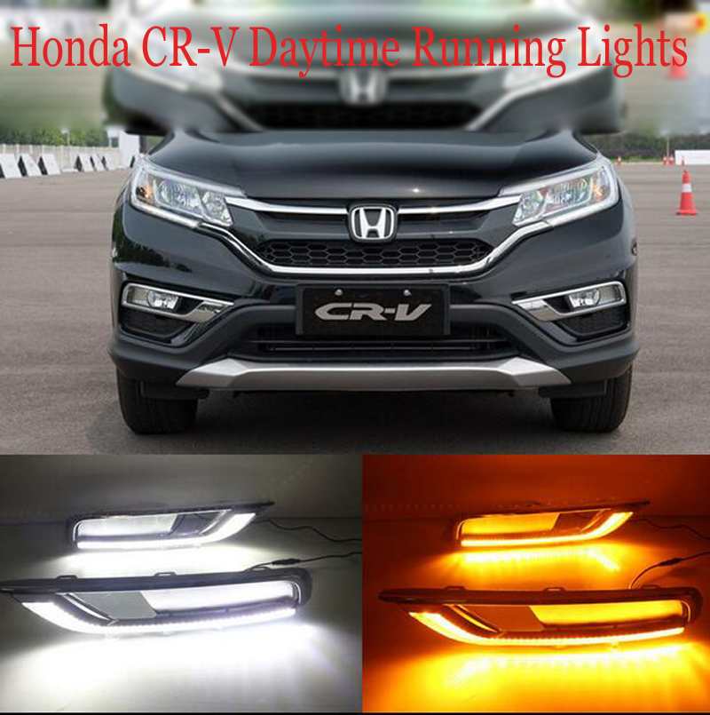 Hireno Car LED DRL Waterproof ABS 12V Daytime Running Lights for Hodna CRV 2015 Fog lamp 2PCS<br><br>Aliexpress