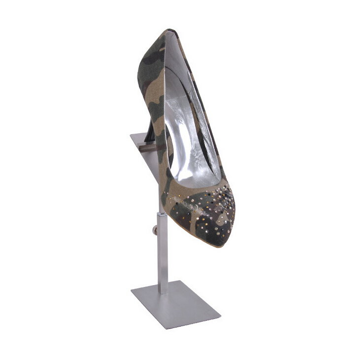 VF-7019 Matte Stainless Steel Brushed Shoe Display Rack Stand Shoe Holder Shoe Rack(China (Mainland))