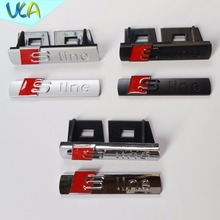 Old Edition S Line Sline Grille Emblem Badge Refitting Car Styling Stickers Audi A1 A3 A4 A5 A6 A7 A8 Q3 Q5 Q7 Black Silver - Shop2310005 Store store