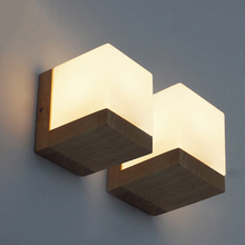 American Style Wall Light bedroom wall lamp bedside lamps Corridor lights solid wood