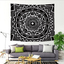 Wall Tapestry Mandala Floral Hanging Carpet Blanket Polyester Indian Bedspread Tablecloth Boho Hippie Towel Yoga Mat(China)
