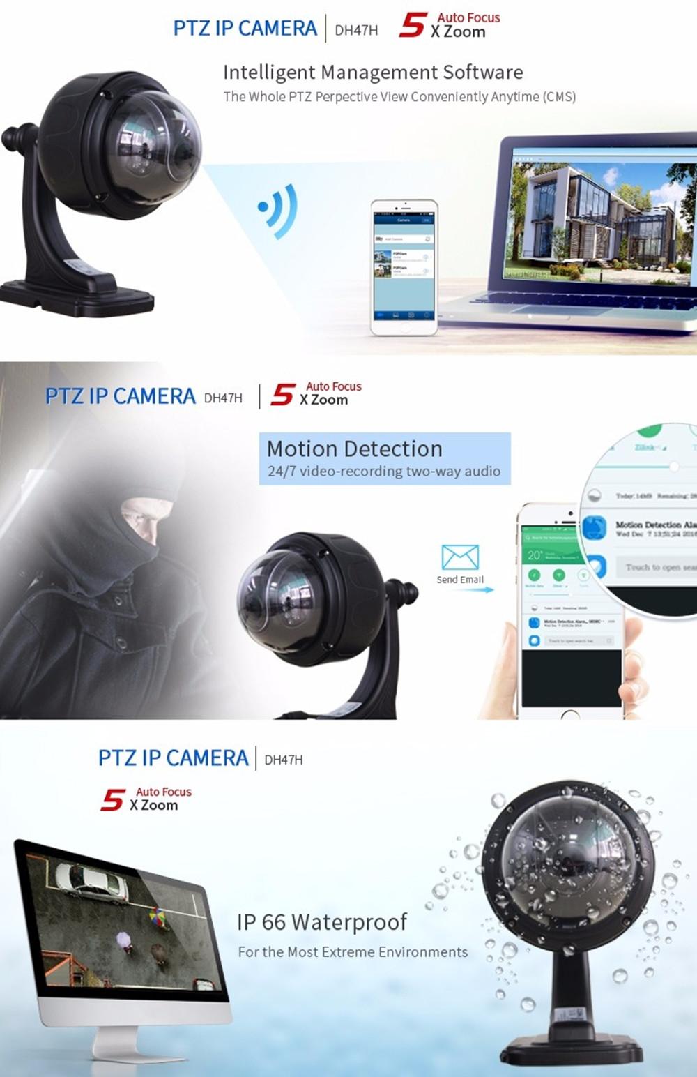ZILNK 960P HD PTZ Speed Dome Camera DH47H Black details (1)