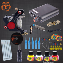Professional Completed Tattoo Kit Black Pigment Power 8 Wrap Coils Guns Tattoo Machine Set Supply Beginner Tattoo Supplies