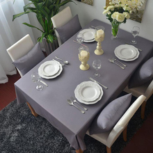 Modern simple grey tablecloth Single color plain cloth dinning table Dustproof cover(China)