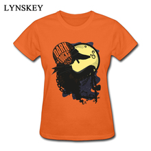 LYNSKEY Latest Casual Tops Tees dark duck rider illustration Summer Crew Neck 100% Cotton Women T Shirt Casual Tee-Shirt(China)