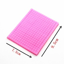P301 double sugar silicone impression super light soft clay TaoCai clay mold manual biscuits small grid woven texture pad