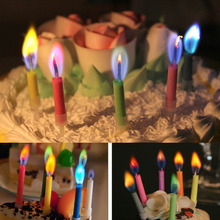 5Pcs Colorful Birthday Cake Candles Safe 5 kinds Color Flames Wedding Birthday Party Dessert Decorations Gift 5.3cm