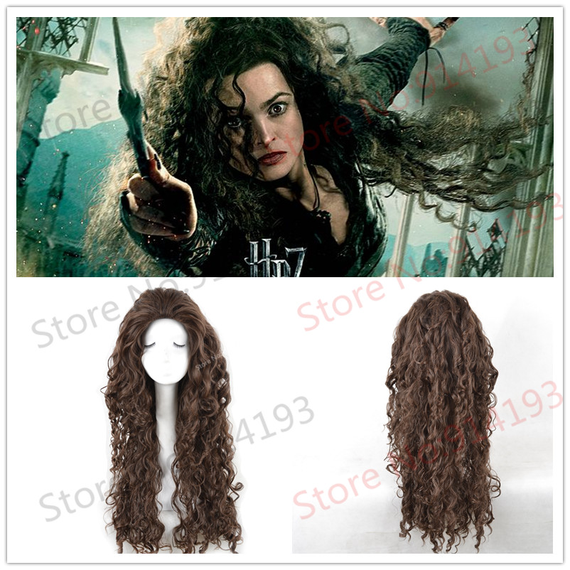 Top quanlity !Harry Potter Bellatrix Cosplay Wigs fashion Style Fluffy Wavy Curly Cos Wig/Hair free shipping<br><br>Aliexpress