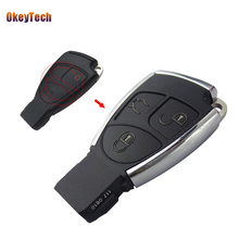 OkeyTech Modified Mercedes Benz C E ML SL SLK CLK AMG 3 Button Replacement Remote Car Smart Key Shell Cover & Battery Holder