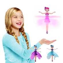 Hot selling Princess Flying Fairy Toys Infrared Induction Doll Easy to Fly Fun to Play with Interactive Toys for Girls Best Gift