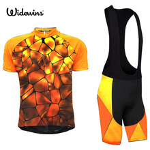 Pro Cycling Jersey 2017 Summer Breathable Bicycle Wear Golden Ropa Ciclismo Hombre Mtb Bike Quick-Dry Short Cycling Clothing 718