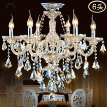 Top Fasion TIffany Candle K9 Crystal Light Chandelier Lamp Lighting For Living Room Lights Foyer Lamps Free Shipping hot selling