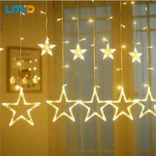 LMID Holiday Lighting AC220V 2M 138LED Home Xmas Decoration Christmas Lights Outdoor Waterproof Fairy Curtain String Lamp(China)