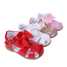 Cutestyles 1-7 Y Summer Girl Princess Sandals Skidproof Microfiber Leather Flat Girl Shoes Hot UK Style KSG005-01 No Shoe Box(Hong Kong)