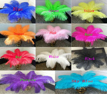HOT! 10pcs  30-35cm / 12-14 inch 11 Colors  ostrich feather plumage dresses wedding party decoration centerpieces wholesale