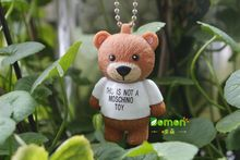 6cm Mini Cute Bear Teddy Bear Doll Pendant keychain High quality PVC Key Chains Figures toy