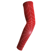 Hot Durable Spider Web basketball slip-resistant lengthen arm guards sunscreen sports protective sleeve forearm elbow pad(China)