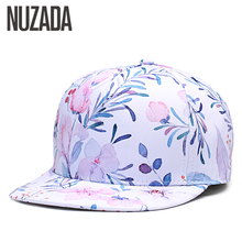 Brand NUZADA 3D Printing Caps Hats Spring Summer Small Fresh Flowers Women Baseball Cap Bone Cotton Adjustable Snapback(China)