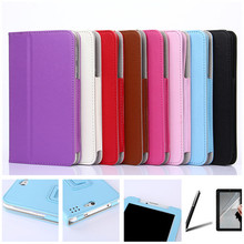 Free Protective Film&Stylus Pen for Oysters T72 HM 3G 7 Inch Tablet PU Leather Cover Case ePacket to Russia Freeship
