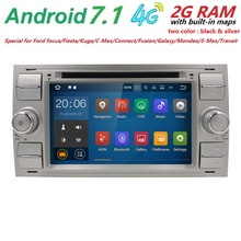 "7"" HD Android 7.1 OS Wifi 4G GPS Nav Navigation Radio Stereo Car DVD Player for Ford Focus 2004-2008 GPS SWC DVR RDS DVBT 2G RAM"