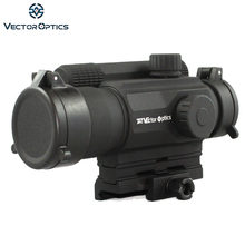 Vector Optics 1x 35mm Relfex Red Dot Sight .223 5.56 M4 AR AK Gun Scope with Riser Mount Filp up Cap fit 21mm Picatinny Rails(China)
