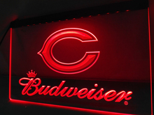 LD271- Chicago Bears Budweiser Bar LED Neon Light Sign