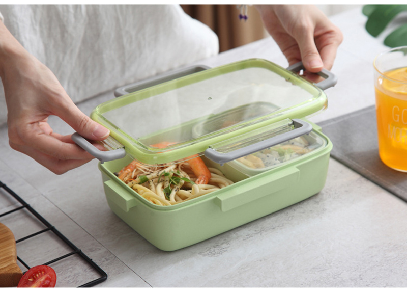 TUUTH New Microwave Lunch Box Independent Lattice For Kids Bento Box Portable Leak-Proof Bento Lunch Box Food Container A11