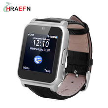 W90 Smart Watch Luxury Leather Business bluetooth Smartwatch with Camera for IOS iphone Android samsung xiaomi PK GT08 A1(China)