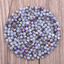 4mm 100pcs Bicone Austrian crystals beads Loose Spacer Bead for DIY Jewelry Making(China)