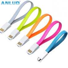Flat Magnet Noddle Durable 22cm Cable Charger Sync Data Micro USB Cable For Samsung Android Interface mobile phone 2pcs/lot