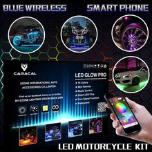 Caracal Smart Phone Bluetooth App control 18 Pod Motorcycle Music Bluetooth Control 108 LED Neon Accent Glow Light Kit RGB