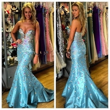 Evening Dresses Long New Design 2017 New Arrival Sexy Sweetheart Prom Dresses Mermaid Off The Shoulder Fashionable Evening Dress